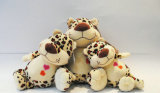 Stuk speelgoed van de Pluche van de Luipaard van de Wildernis van het Stuk speelgoed van de Baby van de douane het Zachte Dier Gevulde