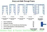 camminata dell'impalcatura 5 ' x6'4 '' attraverso la pagina (FF-621A)