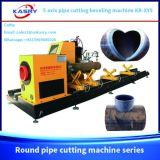 Estaca redonda da tubulação do CNC do plasma de aço de 5 linhas centrais e máquina de chanfradura Kr-Xy5