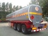 3 semi-remolque del petrolero del combustible del acero de carbón de los árboles 54cbm