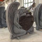 De Gedenktekens van de Grafsteen van het Graniet van de dageraad met de Engelen van de Gravure