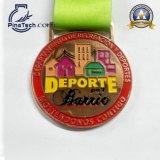 Медаль бега 10 марафонов с античной бронзовой отделкой