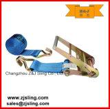 """A cinta da catraca da carga/a chicotada com com fio engancha 4 de """" o azul X 50 '"""
