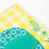 Sacchetti lucidi della laminazione del sacco di carta del regalo del bambino di scintillio con la modifica di caduta e di scintillio