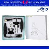 Ampola principal do diodo emissor de luz da lâmpada principal H4 do diodo emissor de luz com ângulo ajustável do mandril para auto microplaquetas Zes do PCS Hi/Lo do farol 16 do diodo emissor de luz do carro