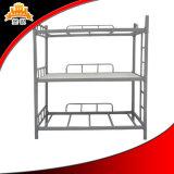 二段ベッド、良質の金属のベッド、ベッド3つの層の