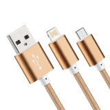 Bestes Verkaufs-Nylon isolierte der 8 Pin-Blitz USB-Kabel für Apple iPhone/iPad