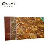 Placa à prova de fogo da decoração do papel de parede da série do mármore do revestimento da resina