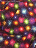 夏の花火のMilticolorプリント綿のナイロンスパンデックスの水着のActivewearファブリック
