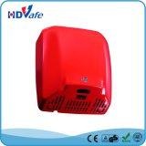Banheiro automático do secador da mão do indicador do diodo emissor de luz da escova de carbono do aço inoxidável