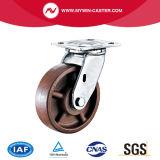 Hochtemperaturfußrolle mit seitlicher Bremse