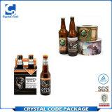 Escrituras de la etiqueta impresas modificadas para requisitos particulares de las etiquetas engomadas de la botella de cerveza