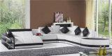 Софа кожи комнаты домашней конструкции мебели красной новой живущий (HC1100)