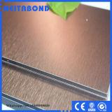El panel de pared aplicado con brocha del precio de fábrica (el panel compuesto de aluminio)