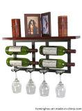 Antike an der Wand befestigte Wein-Zahnstange mit Wein-Glas-Zahnstange