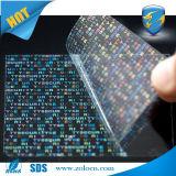 Het totale Materiaal van het Etiket van de Stamper van de Overdracht Transparante Onzichtbare Holografische Duidelijke