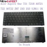 Acer 1 721 721h Ao721 722 Ao722 Zh7 Za5 Za3 Sjm11 UK를 위한 휴대용 컴퓨터 키보드는 갈망한다