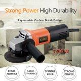 moedor de ângulo 1200W com a escova de carbono assimétrica