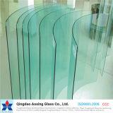 Curvado/curvado vidro endurecido/Tempered para o vidro da tabela/parede