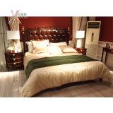Кровать размера ферзя кожаный спальни Kingsize (JME019bed)