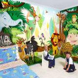 Grande carta da parati animale sveglia della stampa di safari di giungla di alta qualità della decorazione su ordinazione della casa