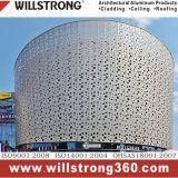 Panneau perforé de panneau composé en aluminium pour la façade