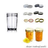 Regelmäßiges Mund Hälfte-Halbes Liter 8 Unze. Glasmaurer-Gläser mit Kappen und Bändern