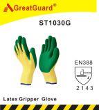 乳液のガラスグリッパーの手袋(ST1030GRN)