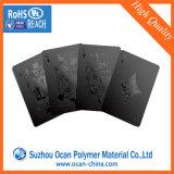 Folha rígida lustrosa preta opaca do PVC para cartões de jogo