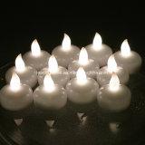 크리스마스는 방수 불꽃 없는 뜨 Tealight 초 Cr2032 건전지에 의하여 운영한 Wedding 축제 당을 불빛에 비춰 조사한다