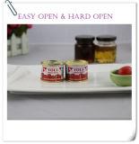 Doppeltes starke Vego Marken-Tomatensauce kann innen
