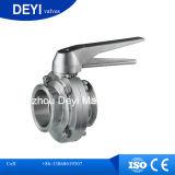 304/316Lステンレス鋼の衛生衛生学の蝶弁(DY-BV1007)