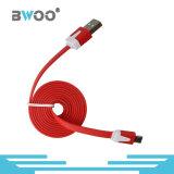 Оптовый цветастый плоский кабель USB голодает заряжатель