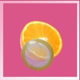 Устранимый приправленный презерватив латекса мыжской (померанцовый запах)