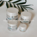 New 5/15/30 / 50g Pearl White Acrylic Waist Cream Jar para Cosméticos (PPC-NEW-113)