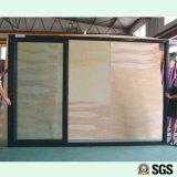 3 Spur-Aluminiumrahmen-Schiebetür, Fenster, Aluminiumfenster, Aluminiumfenster, Glastür K01095