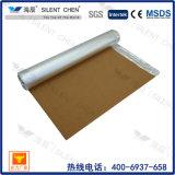 Underlayment incassable de liège de 3mm, avec le papier d'aluminium