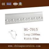 moldeado blanco clásico de la cornisa del moldeado/PU de la espuma de poliuretano de los 9cm