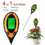 Ow-300 Medidor de luz de temperatura de umidade digital de pH de solo 4 em 1