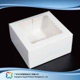 Rectángulo de torta de empaquetado de papel de la cartulina linda con la ventana (xc-fbk-039b)