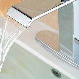 """Escolhir o misturador de bronze do Faucet do dissipador da bacia do cromo do furo do punho com a """" placa 8"""