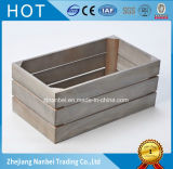 Embalaje de madera grande pintado gris de encargo del envío
