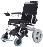 12 بوصة [رر وهيل] قوة كهربائيّة يطوي كرسيّ ذو عجلات, [دروبل] [بوورشير] طبيّة, فائقة خفيفة [إ-وهيلشير], يصمّم لأنّ داخليّ و [أوس.] محدودة خارجيّ