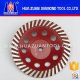 Huazuan 터보 다이아몬드 가는 컵 바퀴, 콘크리트, 대리석을%s 다이아몬드 회전 숫돌