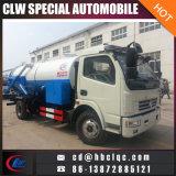 Do esgoto de dragagem do veículo da combinação de Dongfeng 6ton caminhão de dragagem e de limpeza