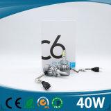 2017 Automobil-u. der Motorrad-SelbstC6 LED Scheinwerfer-Birnen-Installationssatz H1 H3 H4 H11 H13 9007 9004 9005 9006 H7 Auto LED
