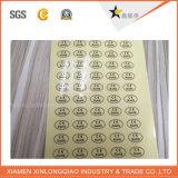 Etiqueta engomada modificada para requisitos particulares seguridad de Anti-Falsificación del holograma de la garantía de la impresión adhesiva de la escritura de la etiqueta