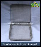Сплетенные нержавеющей сталью корзины ячеистой сети с крышкой