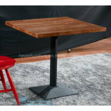 レストランの喫茶店(HW-3030T)のための方法正方形の木のダイニングテーブル