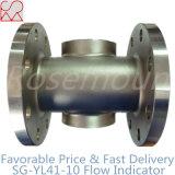Indicador de flujo de aceite con flotador con rotor